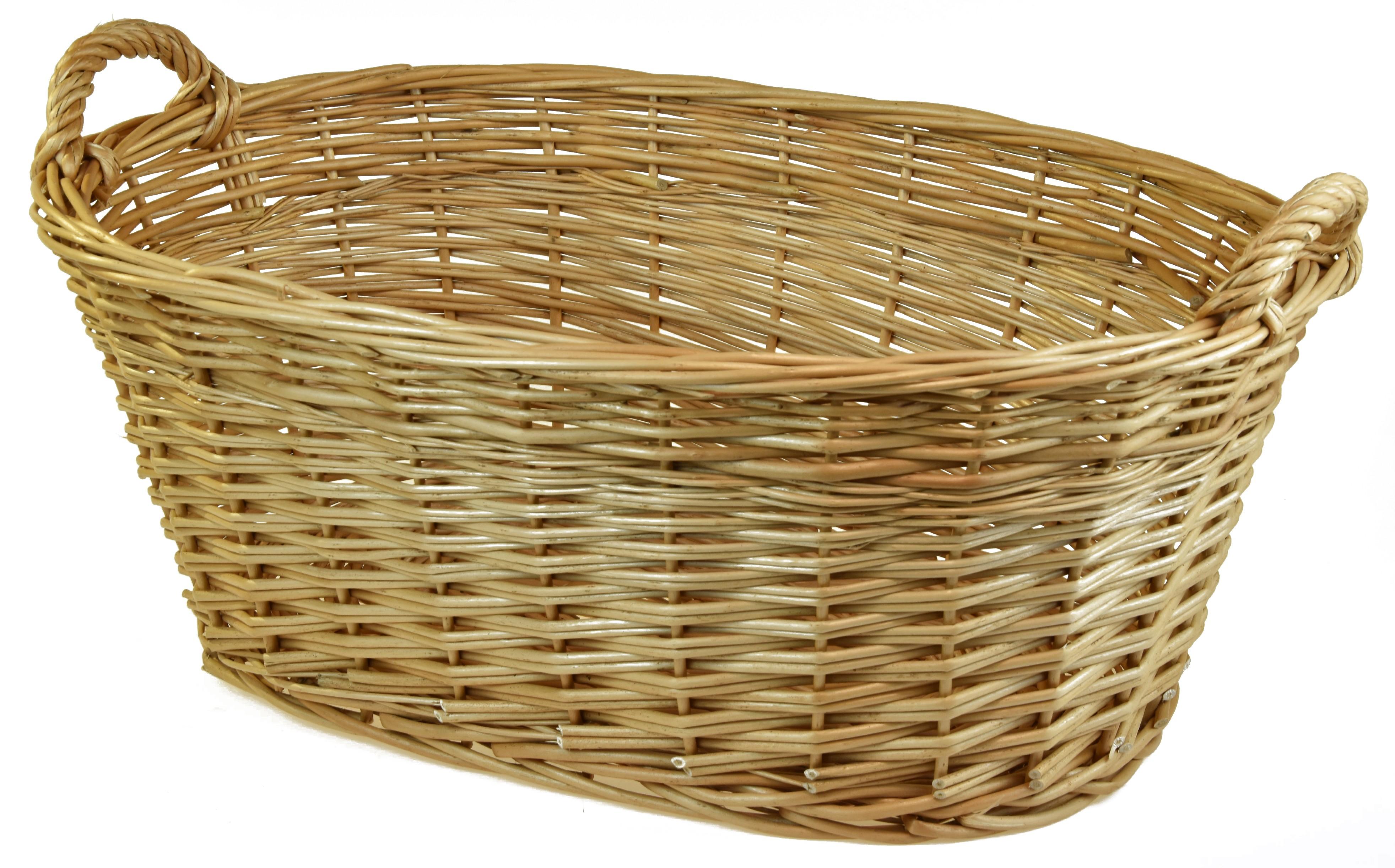 Proutěný koš na čisté prádlo Rozměry (cm): 60 x 42 cm, výška opletu 22 cm