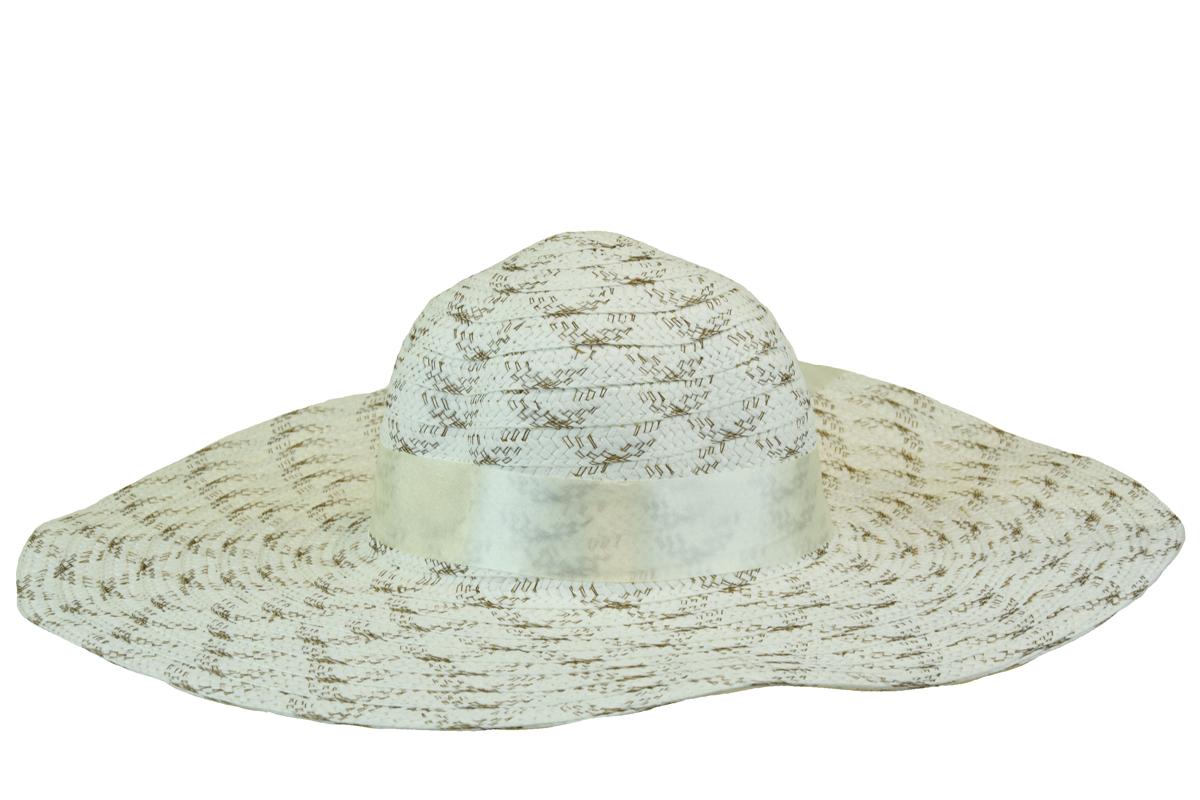 Bílý klobouk se stuhou