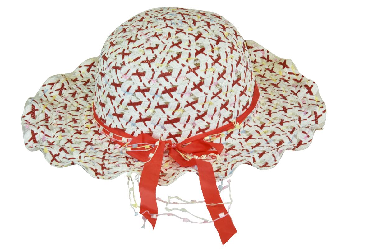 2cfc760564b Slaměný klobouk červený s mašlí