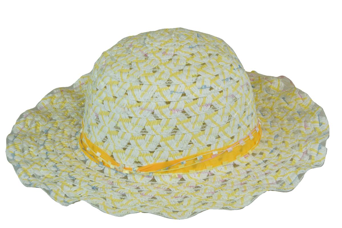 6194387aeea Slaměný klobouk žlutý s mašlí