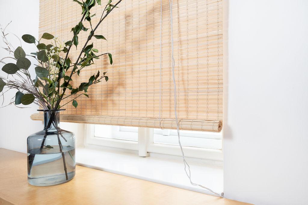 Zatemňovací bambusová roleta - přírodní barva Šířka rolety: 80 cm, Rozvin rolety: 200 cm