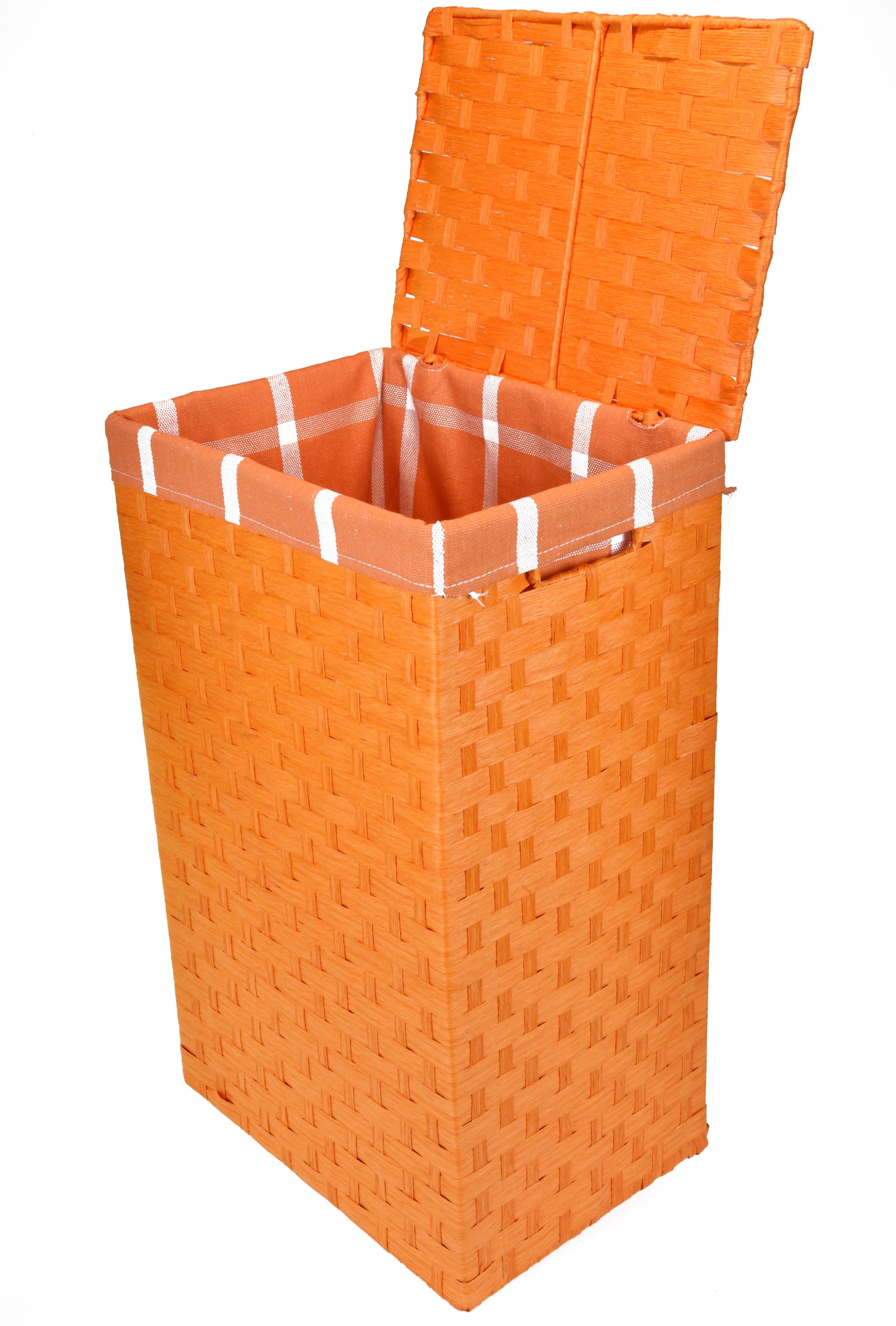 Koš na prádlo oranžový Rozměry (cm): sada 64x43x34|61x40x30|58x36x26