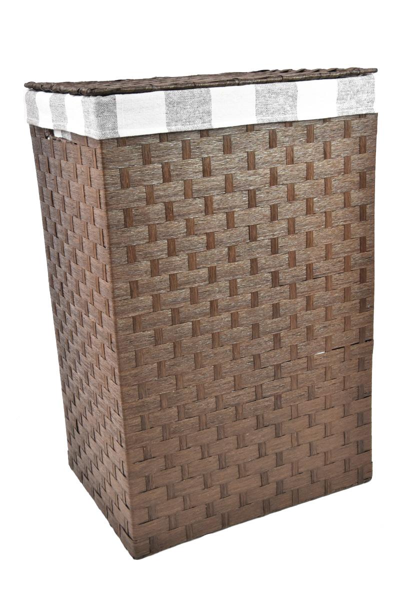 Koš na prádlo hnědý Rozměry (cm): 43x34, v. 64