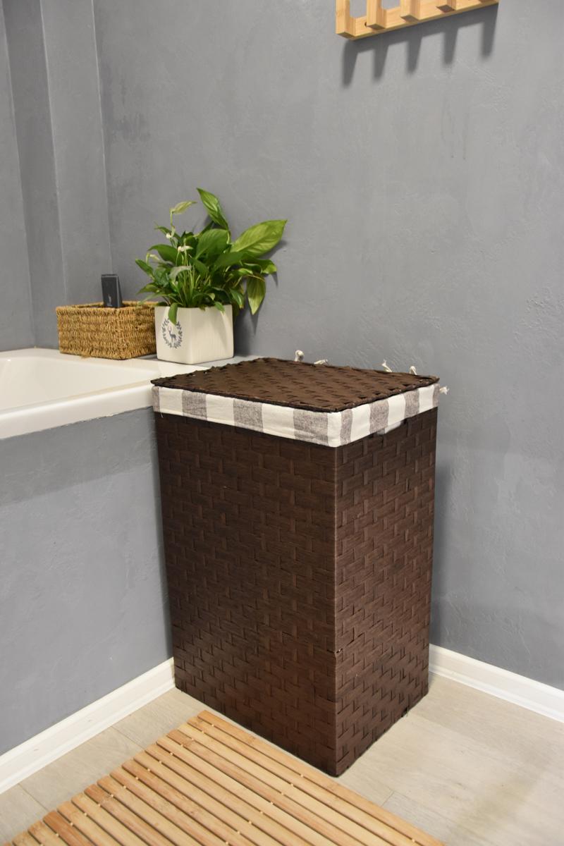 Koš na prádlo hnědý Rozměry (cm): 40x30, v. 61