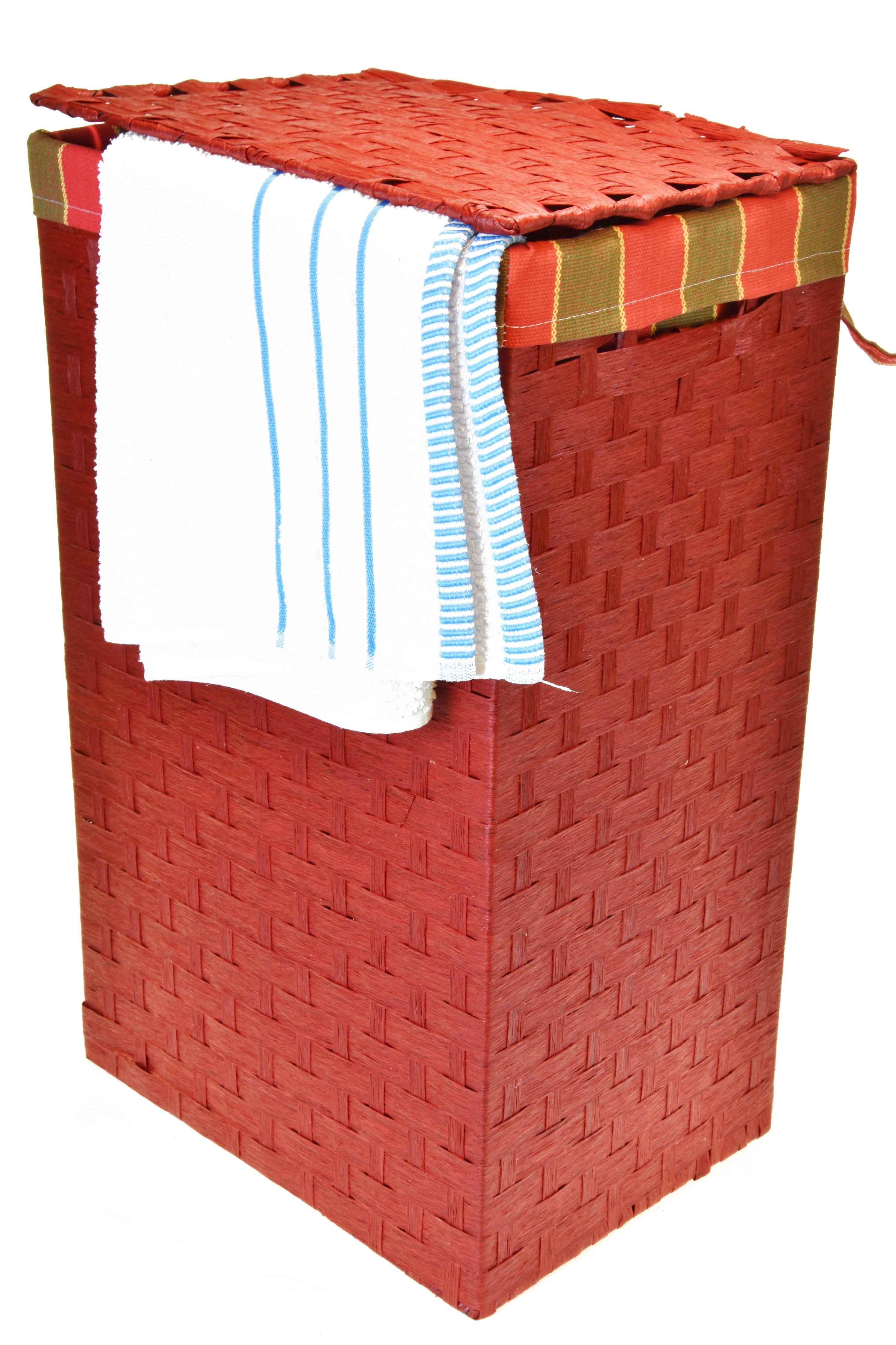 Koš na prádlo červený Rozměry (cm): 43x34, v. 64