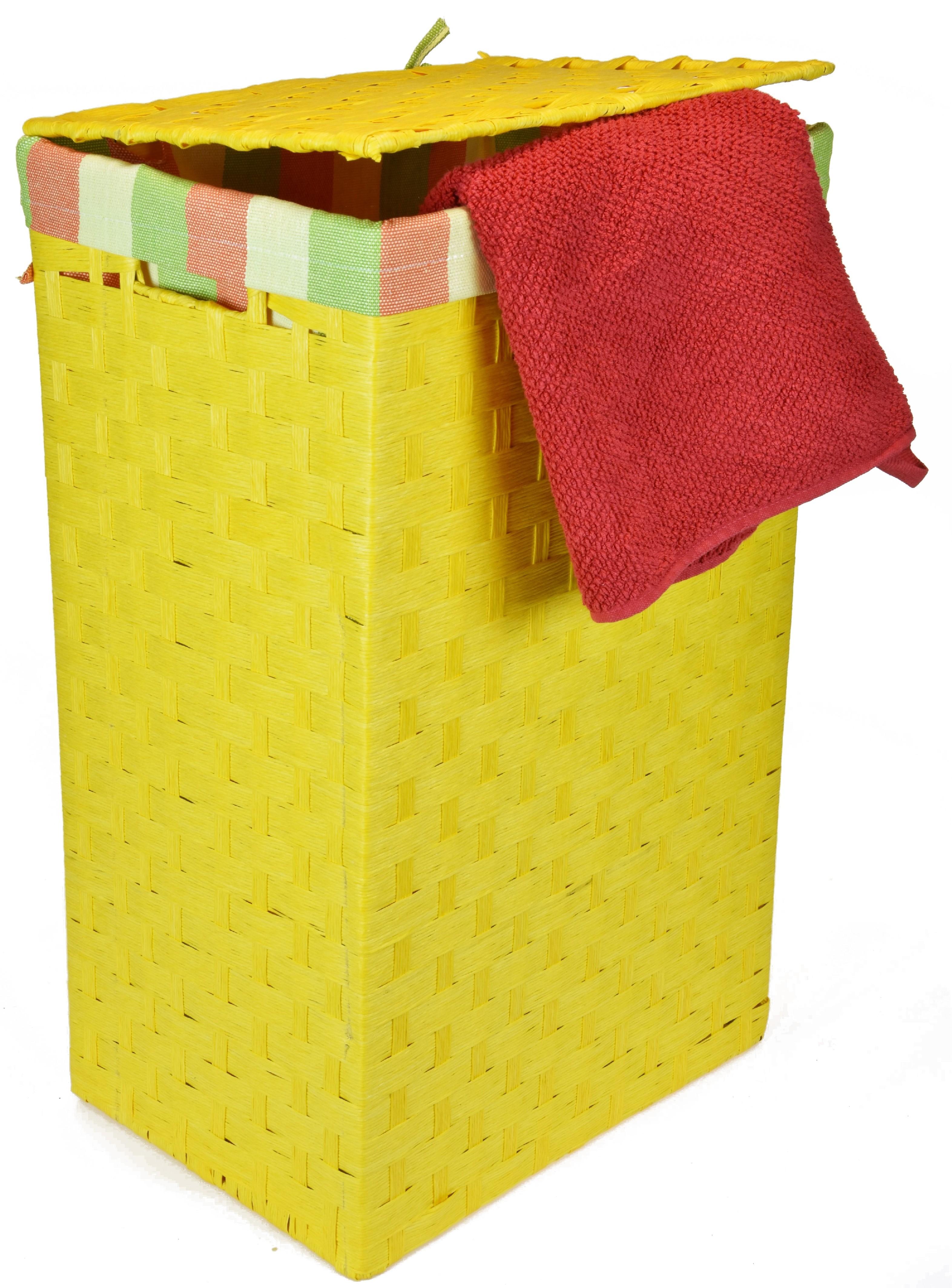 Koš na prádlo žlutý Rozměry (cm): 43x34, v. 64