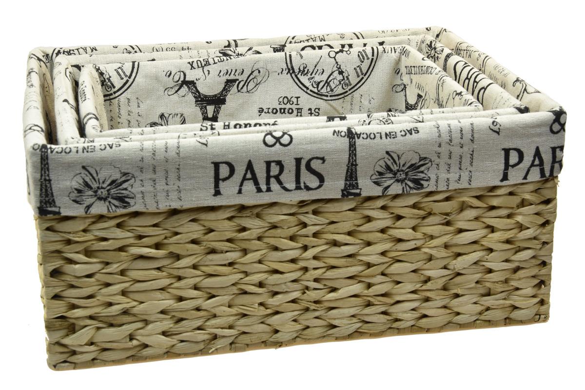Úložný box s látkou PARIS rozměry boxu (cm): 41x21, v. 15