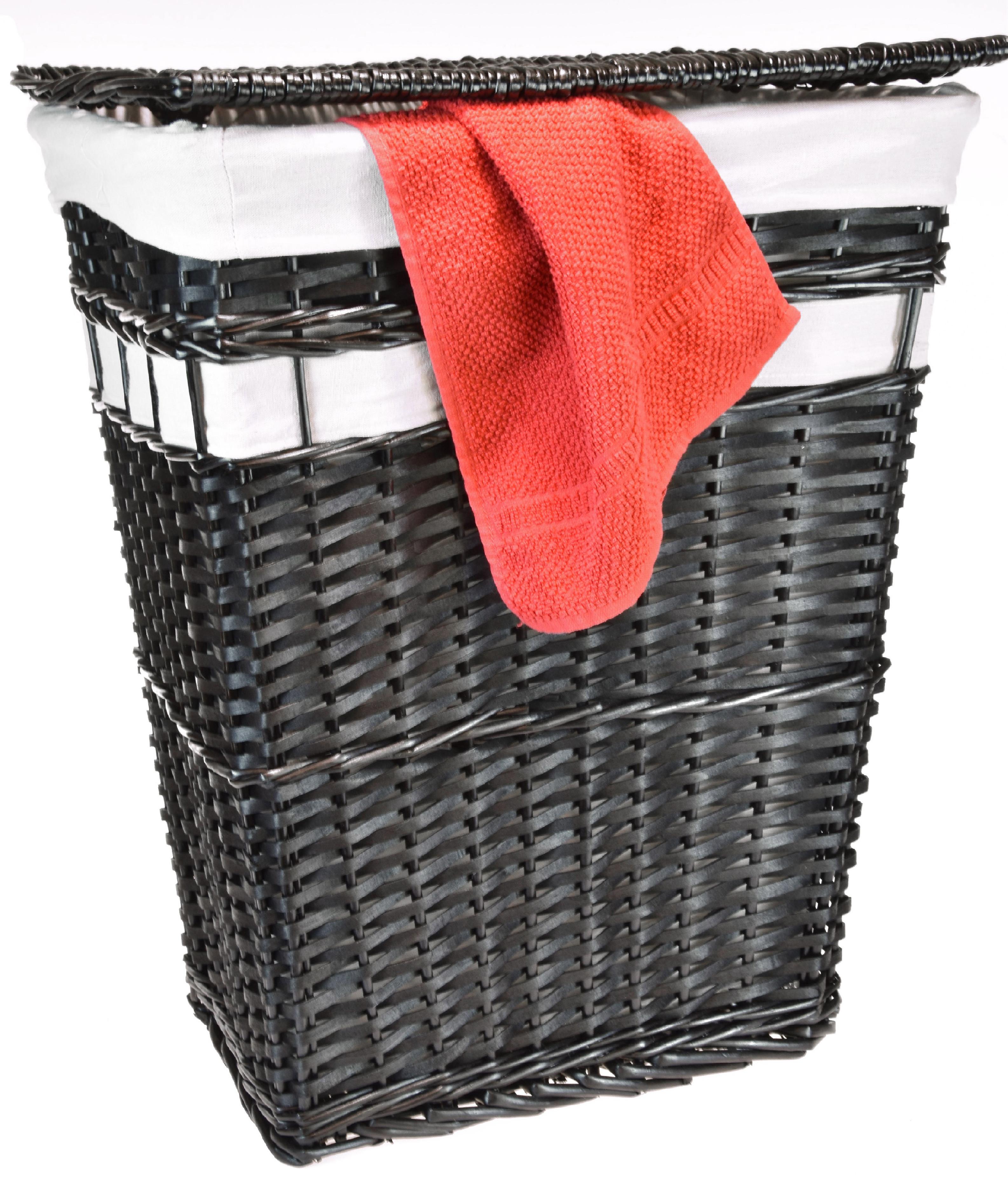 Proutěný koš na prádlo černý