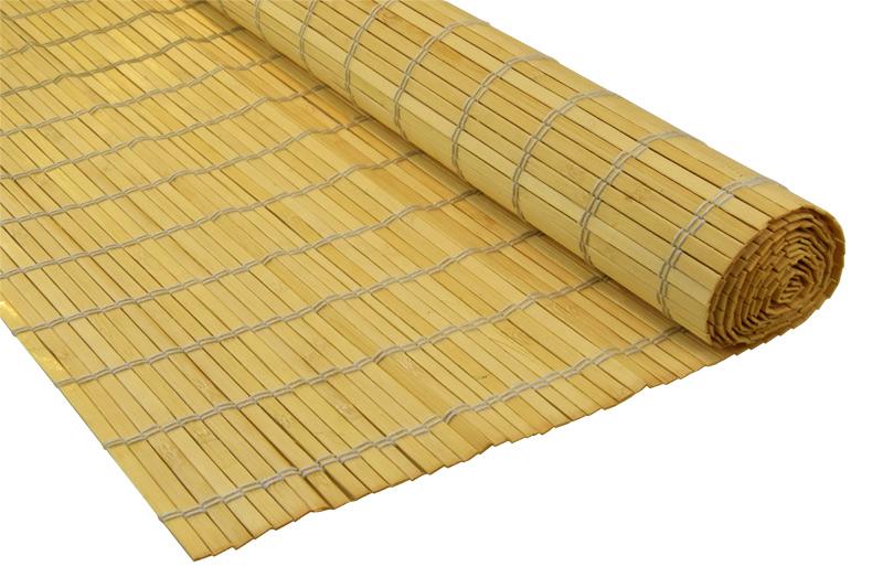 Bambusová rohož za postel přírodní Šířka rohože: 60 cm, Délka rohože: 200 cm