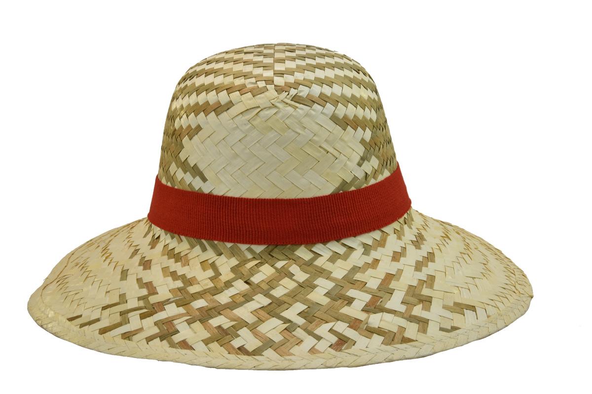 Dámský letní slaměný klobouk s červenou stuhou f3d2abfec1