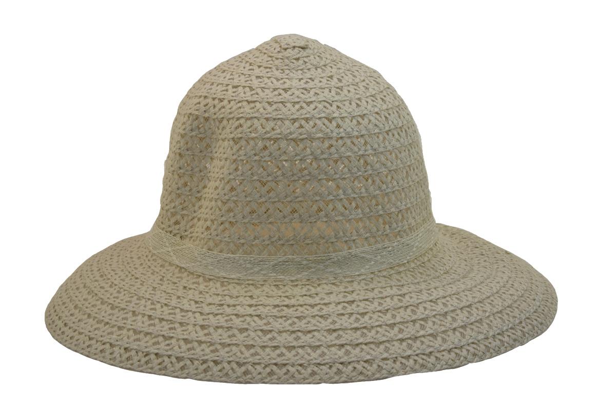Dámský letní klobouk světle krémové barvy acd4b7c79d