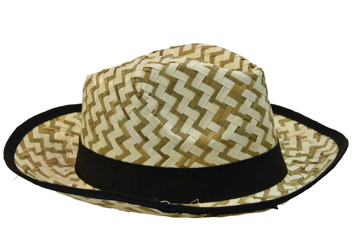6dd6a50163f Pánský slaměný letní klobouk s černým lemem