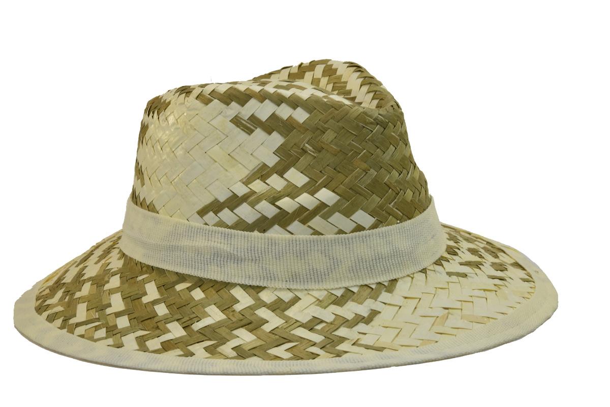 Pánský slaměný letní klobouk s bílým lemem afd96e9fd8