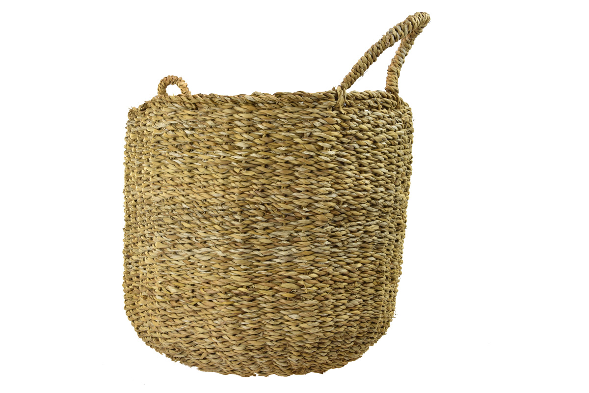 Sada 3 košíků s uchy z mořské trávy