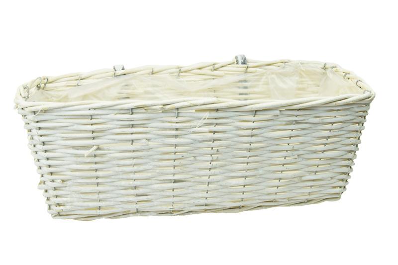 Bílý balkonóvý truhlík