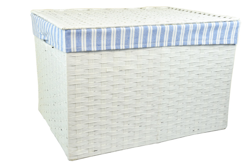 Úložný box s víkem bílý rozměry boxu (cm): 40x29, v. 28