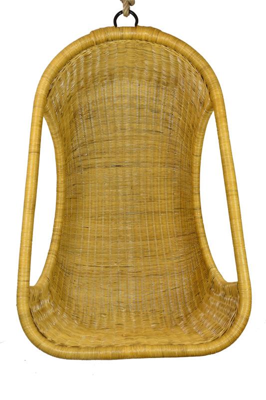 Závěsné ratanové křeslo medové Rozměry (cm): Křeslo