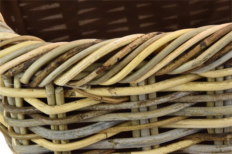 Ratanový úložný koš hranatý Rozměry (cm): 55x38, v. 28 cm