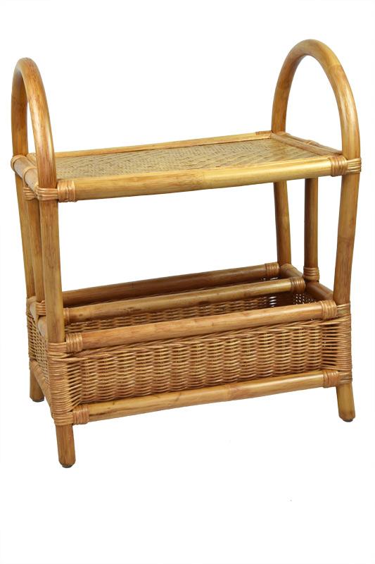 Ratanový servírovací stolek