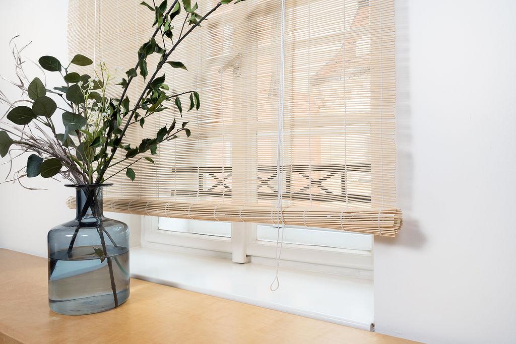 Rozbalená špejlová bambusová roleta přírodní Šířka rolety: 90 cm, Rozvin rolety: 150 cm