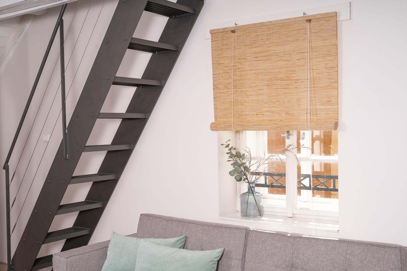 Dřevěná roleta do interiéru – přírodní Šířka rolety: 120 cm, Rozvin rolety: 150 cm