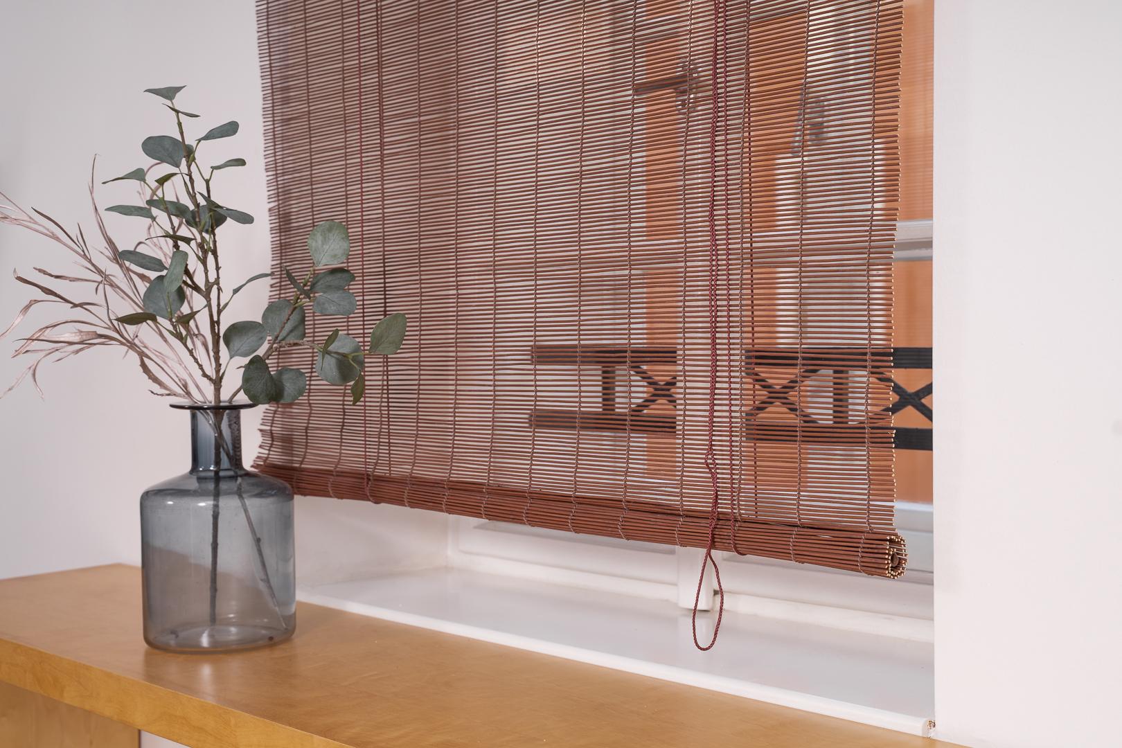 Špejlová bambusová roleta hnědá Šířka rolety: 90 cm, Rozvin rolety: 150 cm