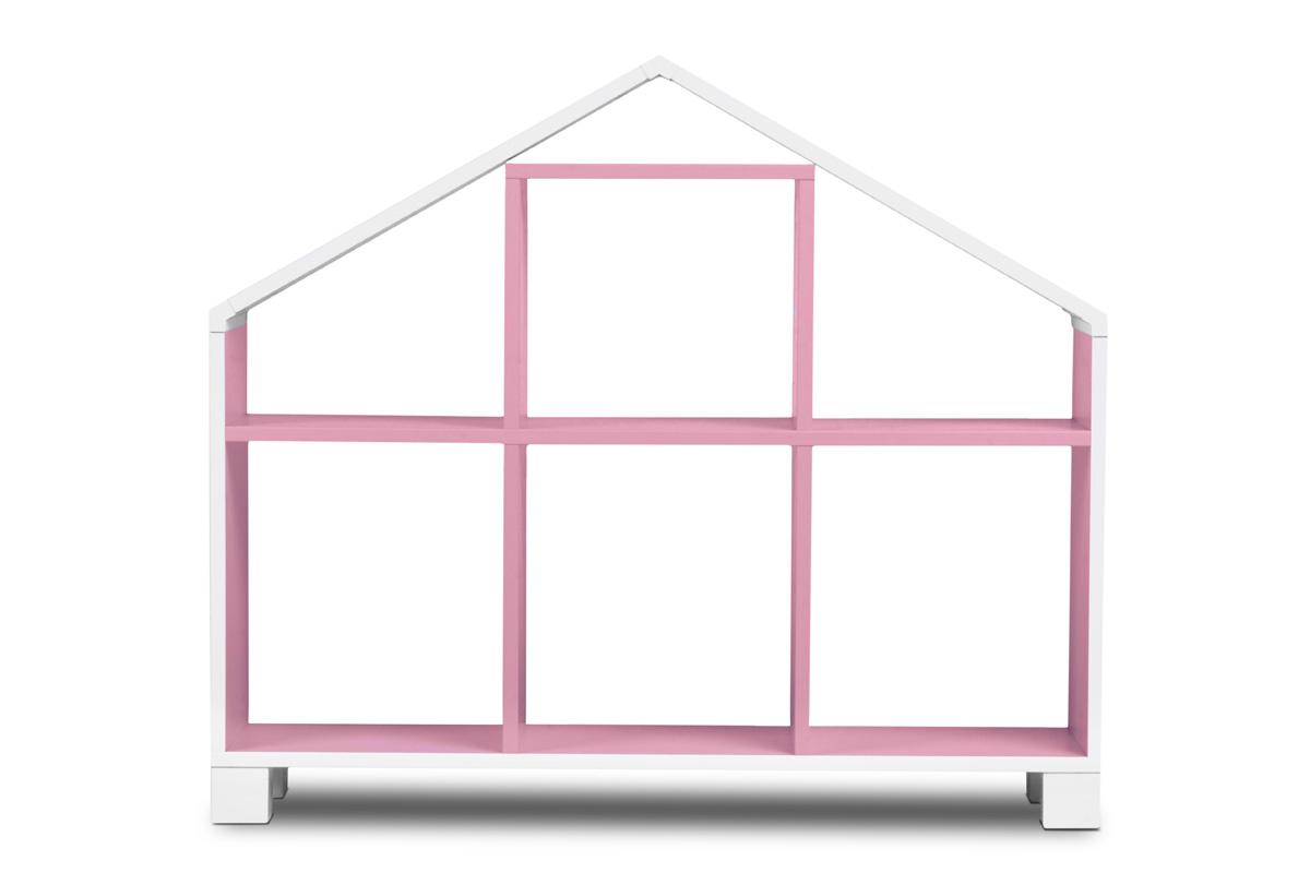 Dětský regál domeček - růžový
