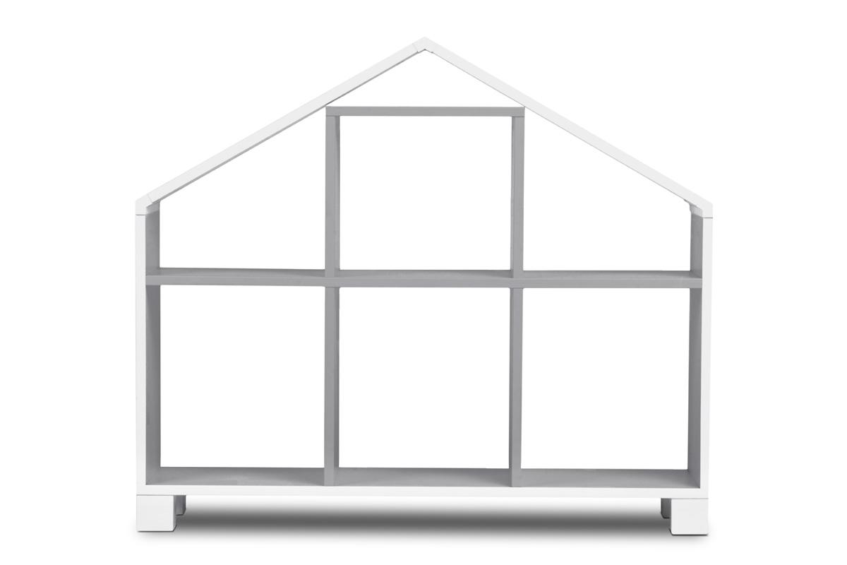 Dětský regál domeček – šedý