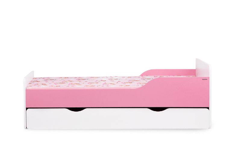 Dětská postel s úložným prostorem - růžová
