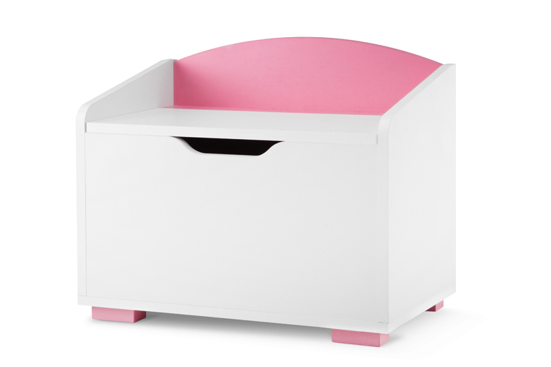 Velký dětský úložný box – růžový