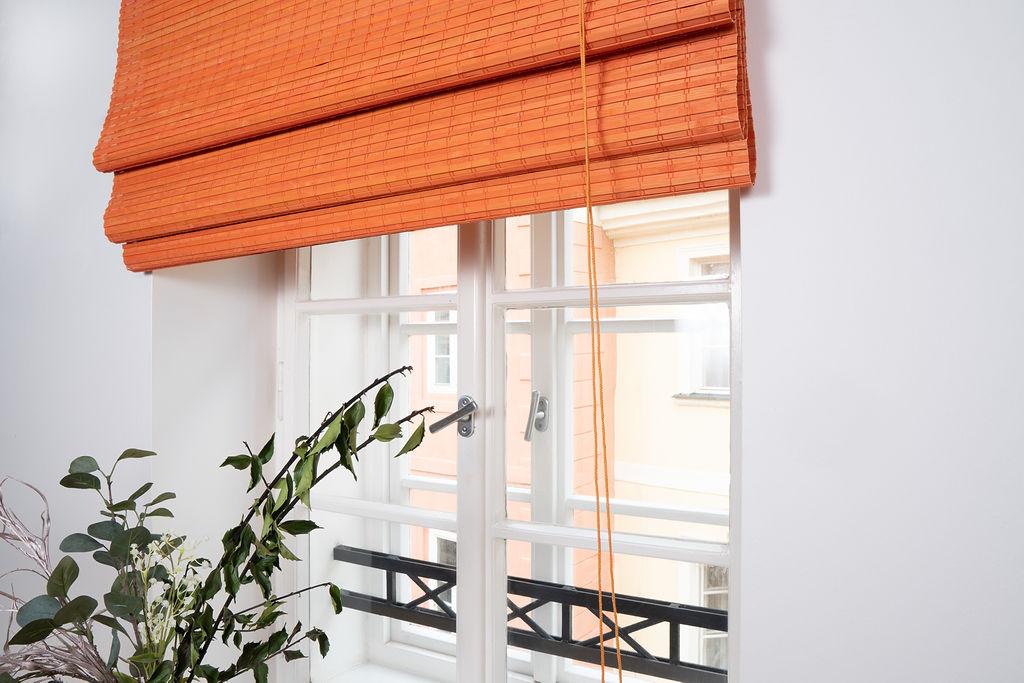 Bambusová římská roleta oranžová Velikost: 50x150