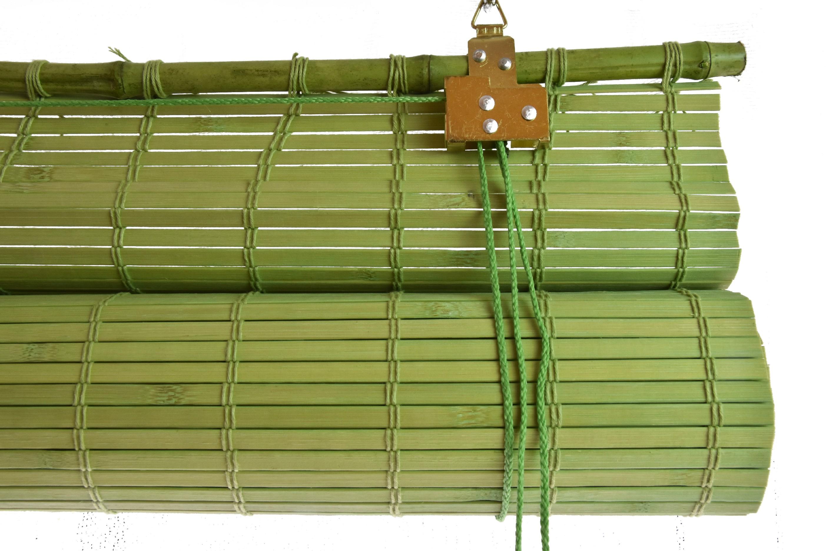 Zastiňovací bambusová roleta zelená Velikost: 60x150