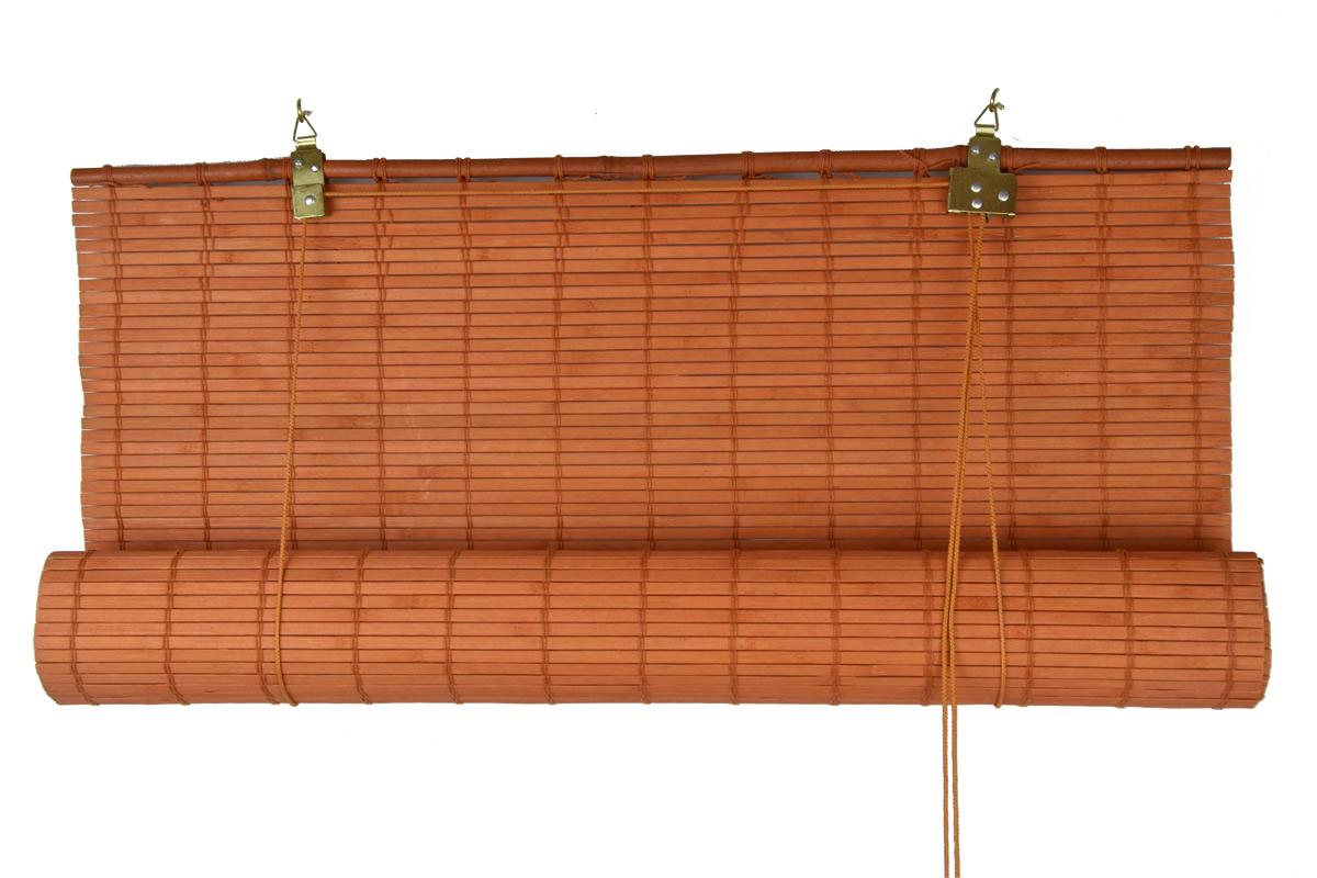 Zastiňovací bambusová roleta oranžová Šířka x délka: 70x200