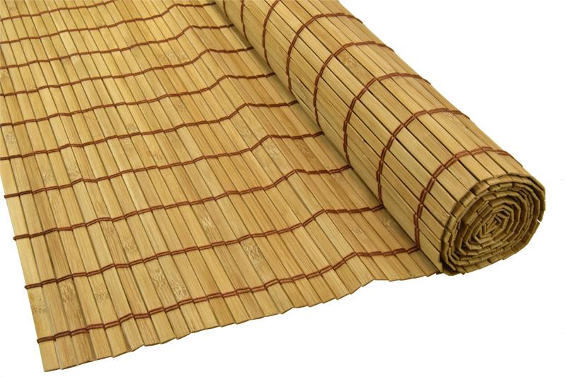 Bambusová rohož za postel hnědá Šířka rohože: 90 cm, Délka rohože: 200 cm