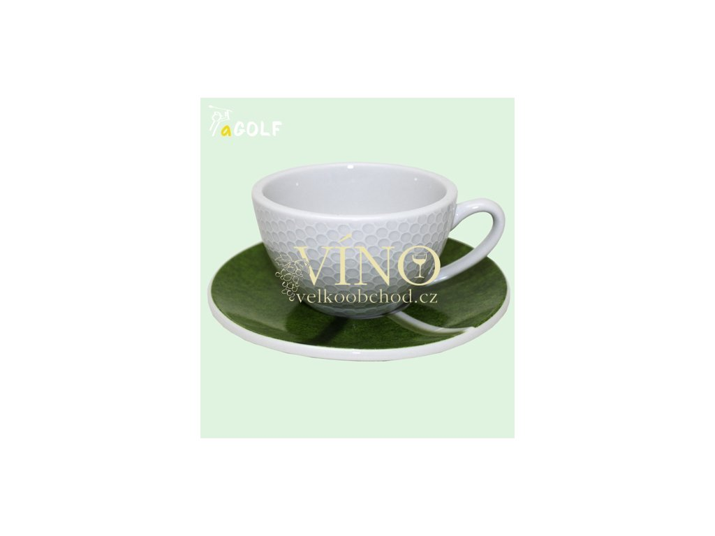 GOLF Café Crème luxusní porcelánová souprava šálku s podšálkem