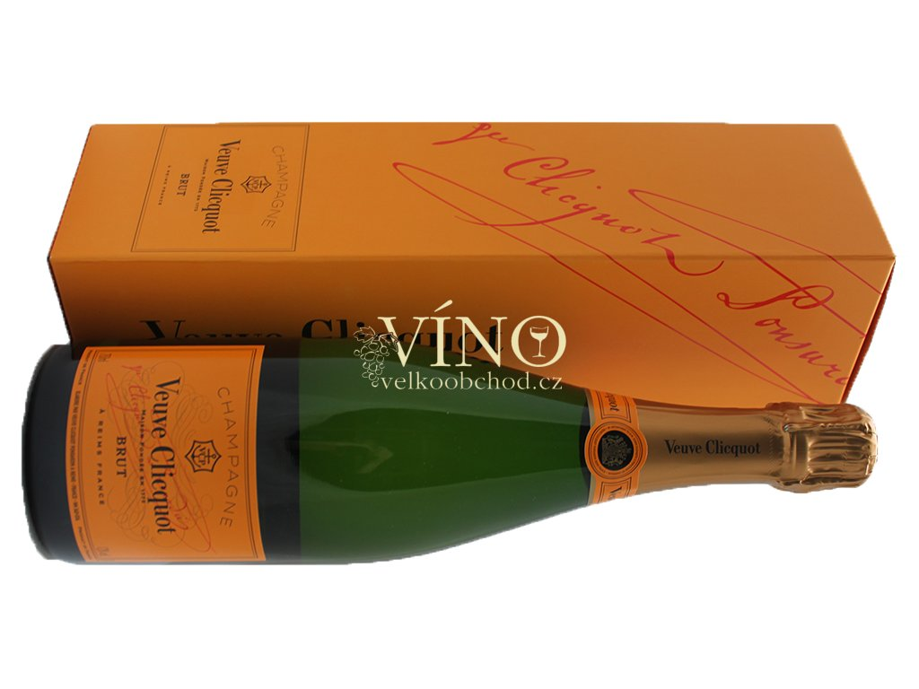 Akce ihned Champagne Veuve Clicquot Ponsardin Brut Box 0,75 l šampaňské Giftbox - dárková krabička