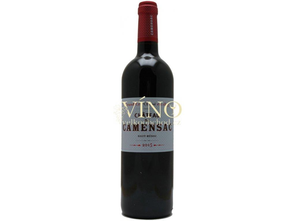 Veyret Latour Chateau de Camensac Grand Cru Classé 0,75 l suché francouzské červené víno z Bordeaux Haut Medoc 2015