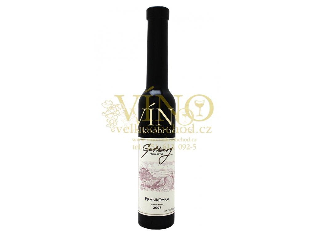 Gotberg Frankovka 2007 slámové 0,2 l sladké moravské červené víno