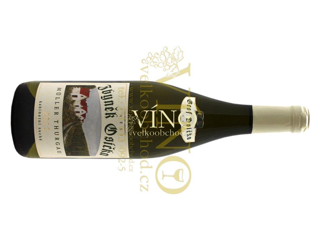 Akce ihned Zbyněk Osička EDITION GROF Müller Thurgau 2012 kabinet 0,75 L suché moravské bílé víno Velké Bílovice