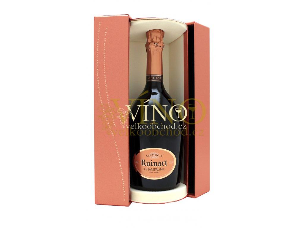 Champagne rose Ruinart rosé 0,75 l + giftbox, dárková krabička