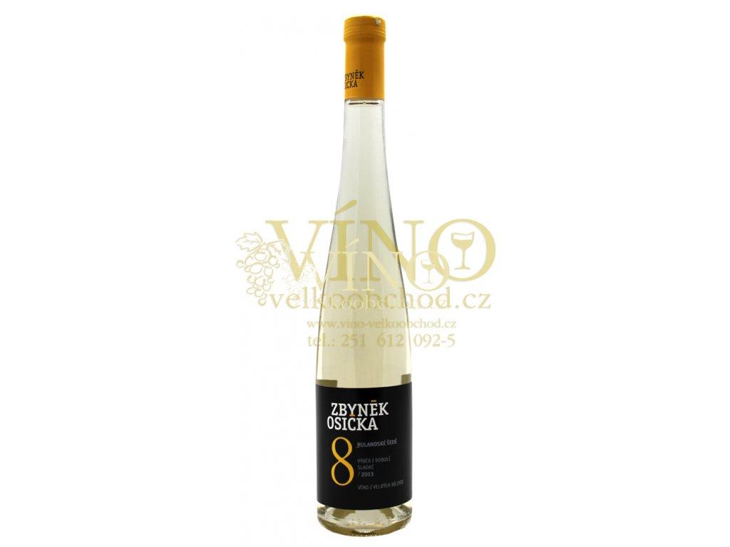 Zbyněk Osička Rulandské šedé 2018 výběr z bobulí 0,75 l sladké moravské bílé víno Velké Bílovice