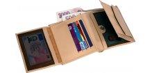 PESO kožená pánská peněženka v dárkovém balení, béžová