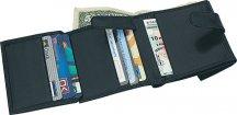 PESETA kožená dámská peněženka v dárkovém balení, černá