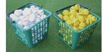 Plastový košík na golfové míče pro 90 ks