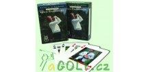 Bridž Open Champions - hrací karty s golfovými motivy, modrá krabička