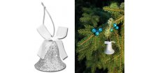 DAMIAN vánoční ozdoba, stříbrná