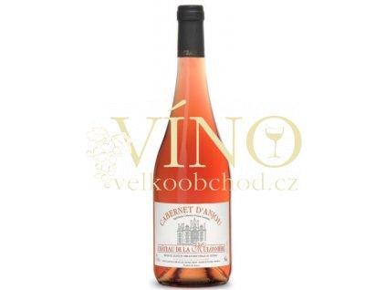 Chateau de la Mulonniére Cabernet d´Anjou AOC francouzské růžové polosuché víno z Val de Loire