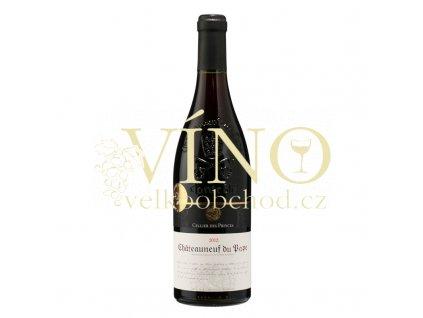 Víno Cellier des Princes Châteauneuf du Pape AOC 0,75 l suché francouzské červené víno z Cotes du Rhone