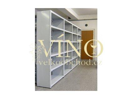 Plechový formát – zaplechování boku regálu,šedá nebo bílá V2000xH300