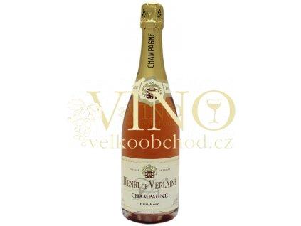 Champagne Henri de Verlaine brut rosé 0,75 L francouzské šampaňské